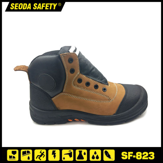 Bellow Tongue Overcap Abrasion Resistant Safety Work Boots for Middle East