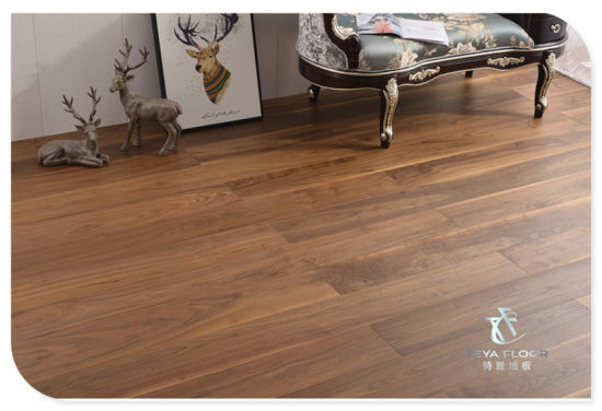 American Walnut Brushed Engineered Wood Flooring Uv Oiled Multi Layer 3
