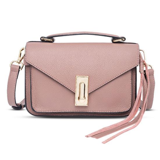Lady Genuine Leather Messenger Hand Bag Fashion Crossbody Bag
