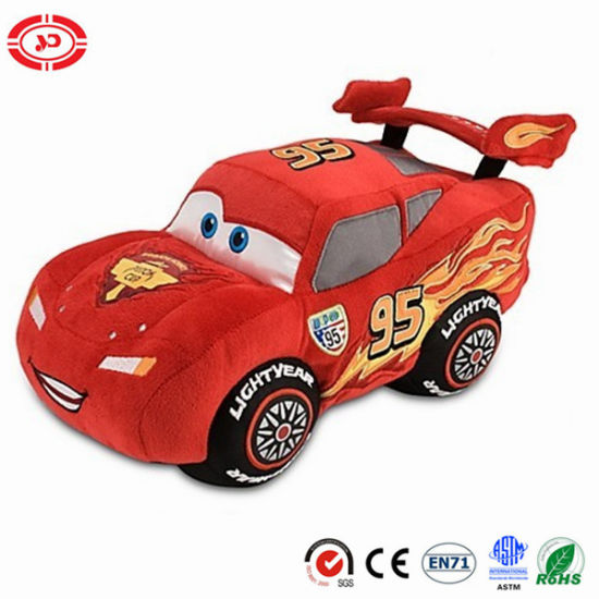 Fire Angry Red Racing Car Shape Soft Plush Toy