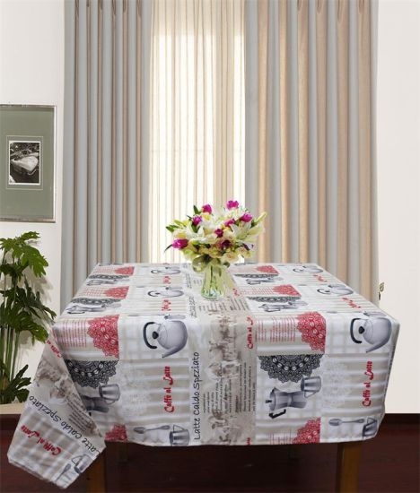 100%Polyester Solid Jacquard Tablecloth pictures & photos