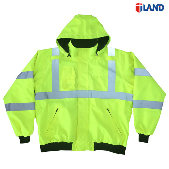 MID-Weight Hi-Visibility Coat Safety Jacket