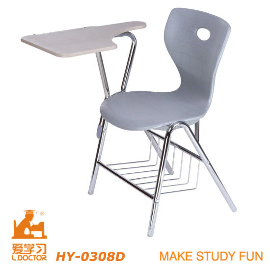 Modern School Chair with Writing Table pictures & photos