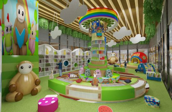 New Design High Quality Reading Room Customized Bookshelf For Preschool