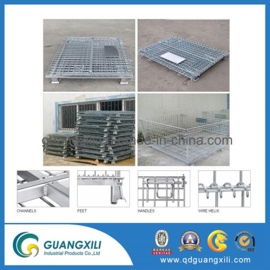 Foldable Storage Steel Folding Grille Box