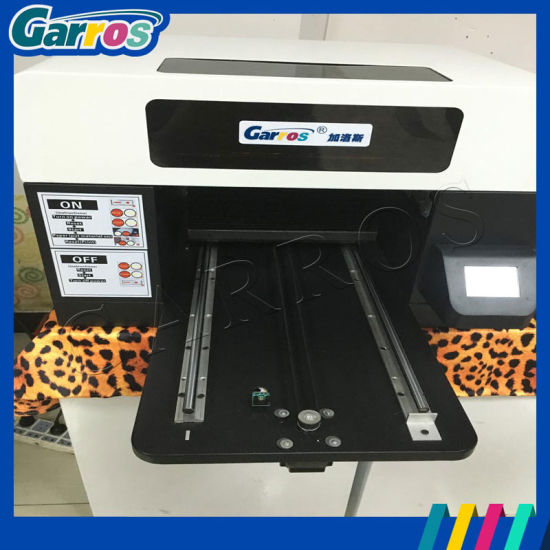 Cmyk and White Color Pigment Ink T-Shirt Printer Garros Digital T Shirt Printing Machine for Sale pictures & photos