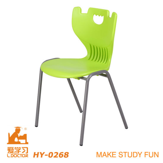 Metal Student Chair with Colorful Plastic PP Shell pictures & photos