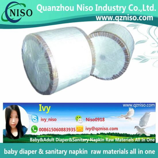 Jumbo Roll Carrier Tissue Paper for Baby Diaper/Adult Diaper/Sanitary Napkin Raw Materials
