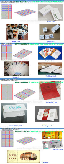 Full Automatic A3 A4 Paper Namecard Cutting Slitting Creasing Perforating Machine Multi Business Name Card Cutter pictures & photos