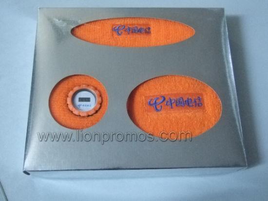 Telecom Business Gift Box Packing Sports Towel Sweat Band Watch Gifts Set