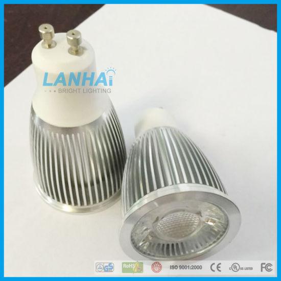 9w Mr16e27gu10gu5 Cob Spotlight Cup 3 Light Aluminum Led vn0m8Nw
