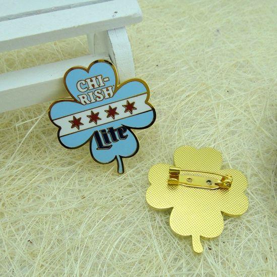 China Metal Gold Hard Enamel Flower Lapel Pin - China Lapel