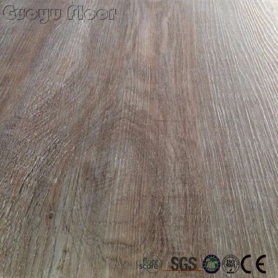 China Commercial Wood Grain Click Lock Pvc Vinyl Flooring Plank