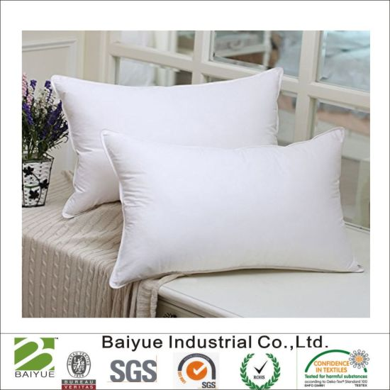 China Cheap Wholesale White Soft Hotel Home Feather Down Pillow Awesome Down Feather Pillow Inserts Wholesale