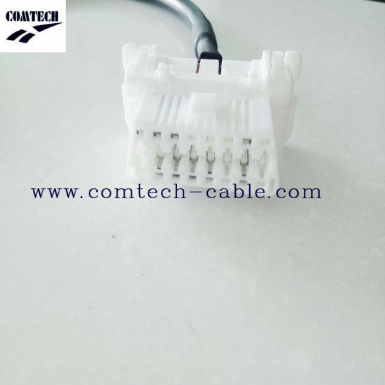 OBD 16p Male Conn to OBD 16p The Mother City White Lock Type Rubber Core