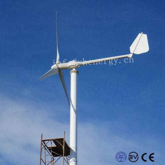 Easy Installation Horizontal Axis Wind Mill 3000W Hawt Generator pictures & photos