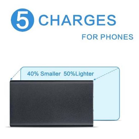 Ultrathin Metal Scrub Phone Power Bank with 20000mAh Polymer Charger pictures & photos