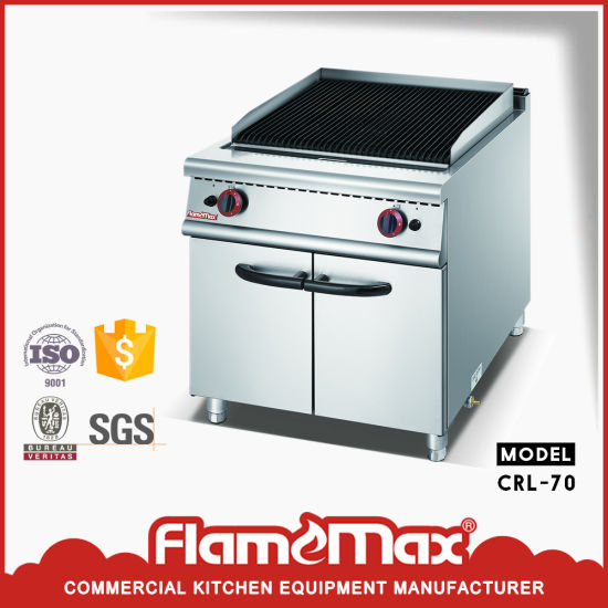 Stainless Steel Gas Lava Rock Grill Machine For Kitchen Equipments Crl 70