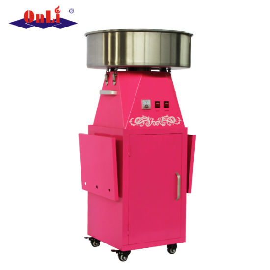 Commercial Electric Automatic Flower Cotton Candy Machine and Cart pictures & photos