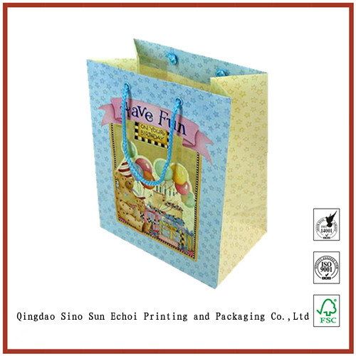 Cheap Custom Wholesales Logo Printed Packaging Paper Gift Bags with High Quality
