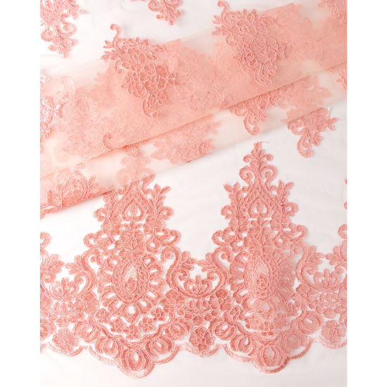 Embroidery Organza Lace Fabric Tulle Lace Fabric for Wedding Dress pictures & photos