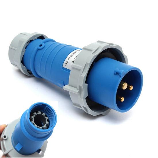CF278 16AMP Waterproof 3 Pin Plug IP67 400 Volts Nylon Industrial 3 Phase  Socket