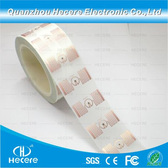 Contactless UHF RFID Sticker Programmed Labels Tag Plastic/ Paper Surface RFID Tag
