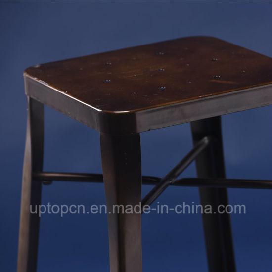 Astonishing China Antique Style Industrial Square Gunmetal High Bar Customarchery Wood Chair Design Ideas Customarcherynet