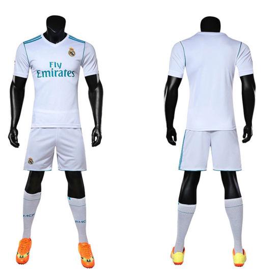 best service 8edf1 a8e5b 2018 Football Club Real Madrid Soccer Football Uniform Set Kits Shirt Jersey