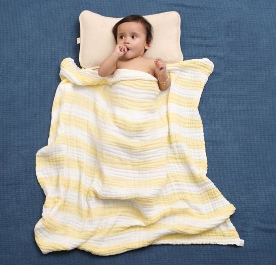 6 Layers Printed Cotton Muslin Baby Blanket