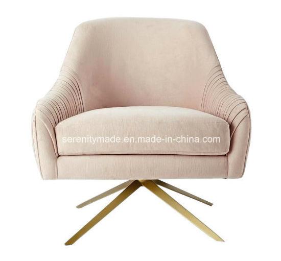 china modern furniture living room luster velvet swivel sofa chair