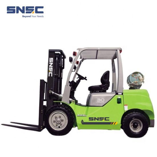Snsc LPG Gasoline 1.5ton-3.5ton Dual Fuel Propane Petrol Forklift with Japan Nissan Engine