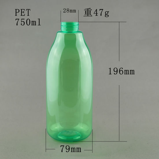 750ml 25 Oz Green Plastic Pet Lotion Bottle Shampoo Bottle with White  Lotion Pump for Shower Gel China Manufacturer