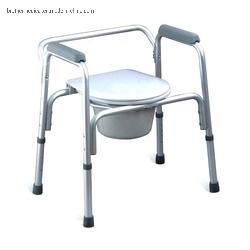 Nursing Care Adjustable Folding Bathroom Toilet Chair for Disabled
