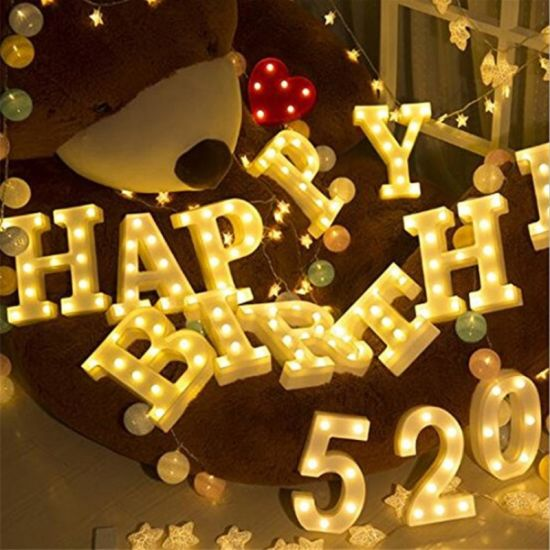 China Led Letter Light Home Wedding Decoration Alphabet Romantic