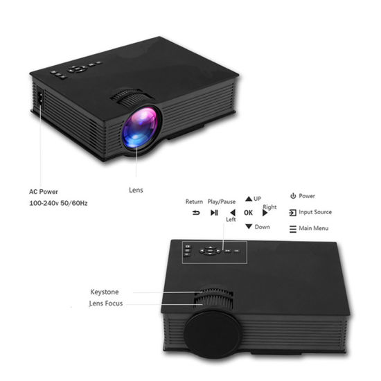 Wholesale Unic UC46 1200 Lumens Mini Full HD HID Built-in WiFi Latest  Mobile Phone Projector Unic UC46