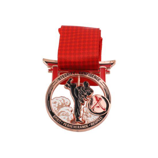 Antique Gold Marathon Running Award Metal Sport Souvenir Medal for Promotion Gift