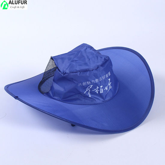 Collapsible Mesh Sun Hat Packable Hats German Flag Design Foldable Hat