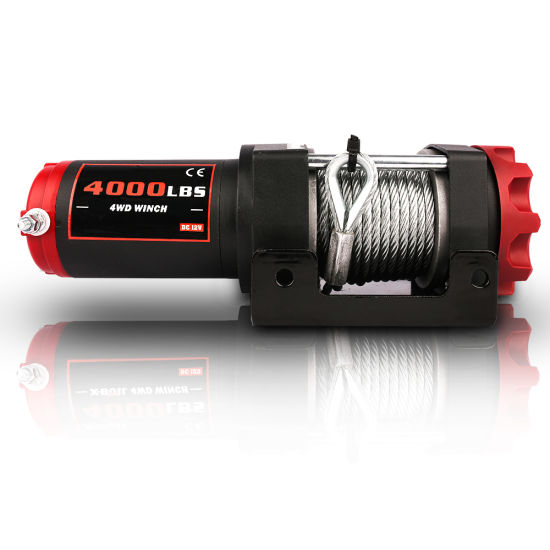Red-Black 4000lbs Electric Winch for ATV