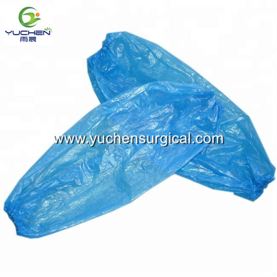 70d97dae58 Medical Consumables Surgical Plastic PE Blue Disposable Arm Sleeve Cover