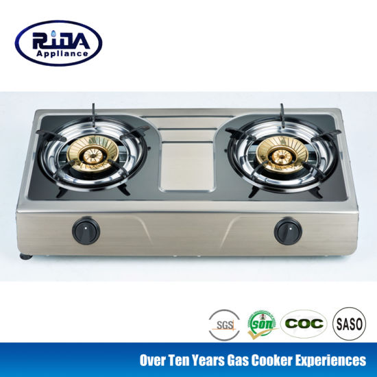 High Quality 2 Burner Stainless Steel Gas Cooker