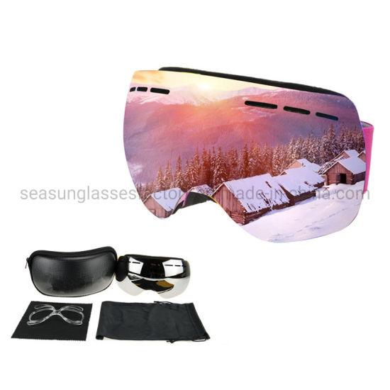 Hot Sale New Ski Goggles Anti-Fog Magnetic Lens