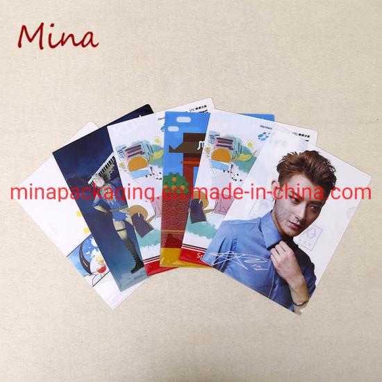 Custom Print A4 L Shape PP Plastic Clear File Folder Manufacturer