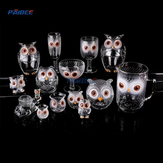 Paibee Embossed Glasses Colored Goblet Glasses for Party Event Wedding pictures & photos
