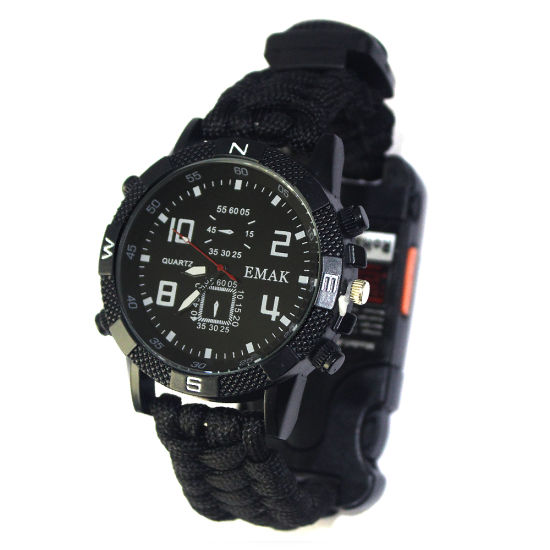 New Military Outdoor Equipment Paracord Tactical Survival Watch