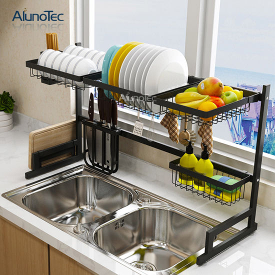 China Easy Diy Adjustable Stainless Steel Stand Storage Shelf Over Sink Dish Drying Kitchen Rack China Dish Rack And Dish Drying Rack Price