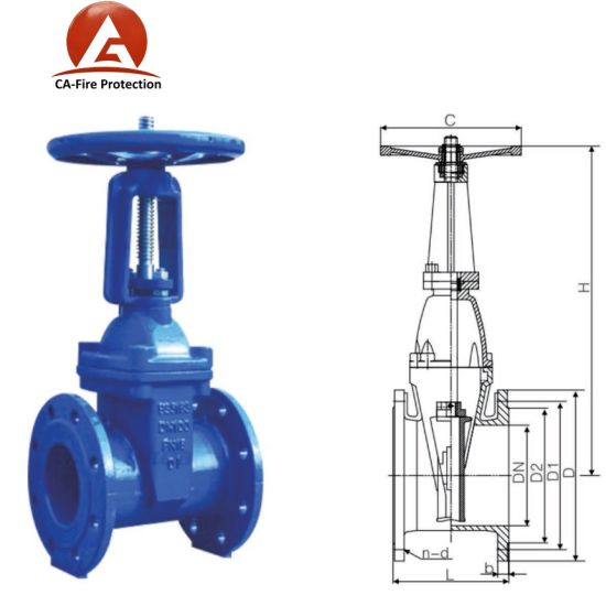 China Automatic Bronze GOST Sanwa 50mm Flanged Gate Valve