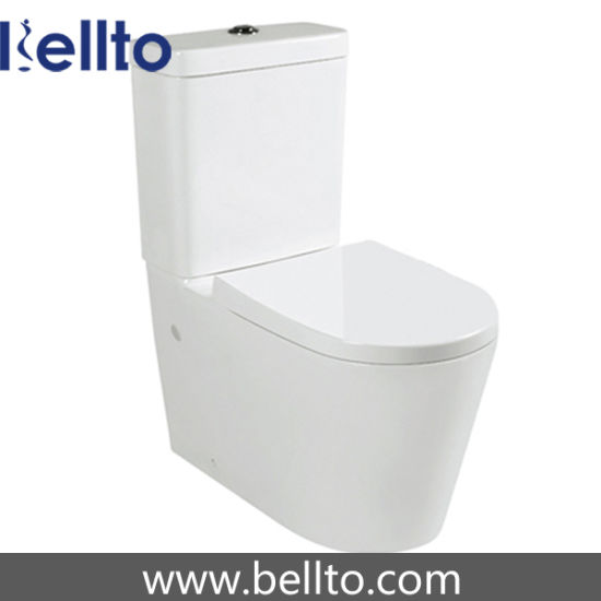 Rimless water saving close coupled toilet with water tank (B-015)