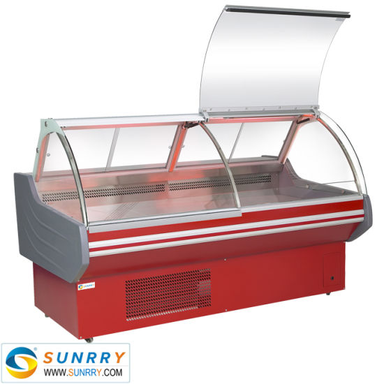 Supermarket Refrigerated Deli Display Case Counter