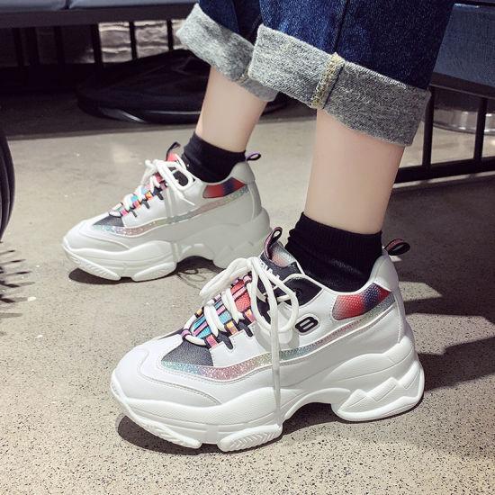 High Wedge Sneakers Women Platform